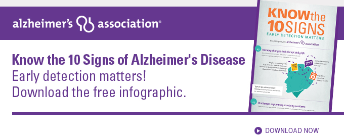 Download the 10 Signs of Alzheimer's Disease