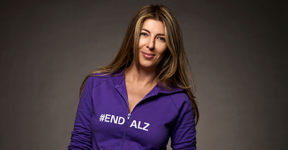 Purple is definitely her color! Nina Garcia rocks the hue in the fight to #ENDALZ.