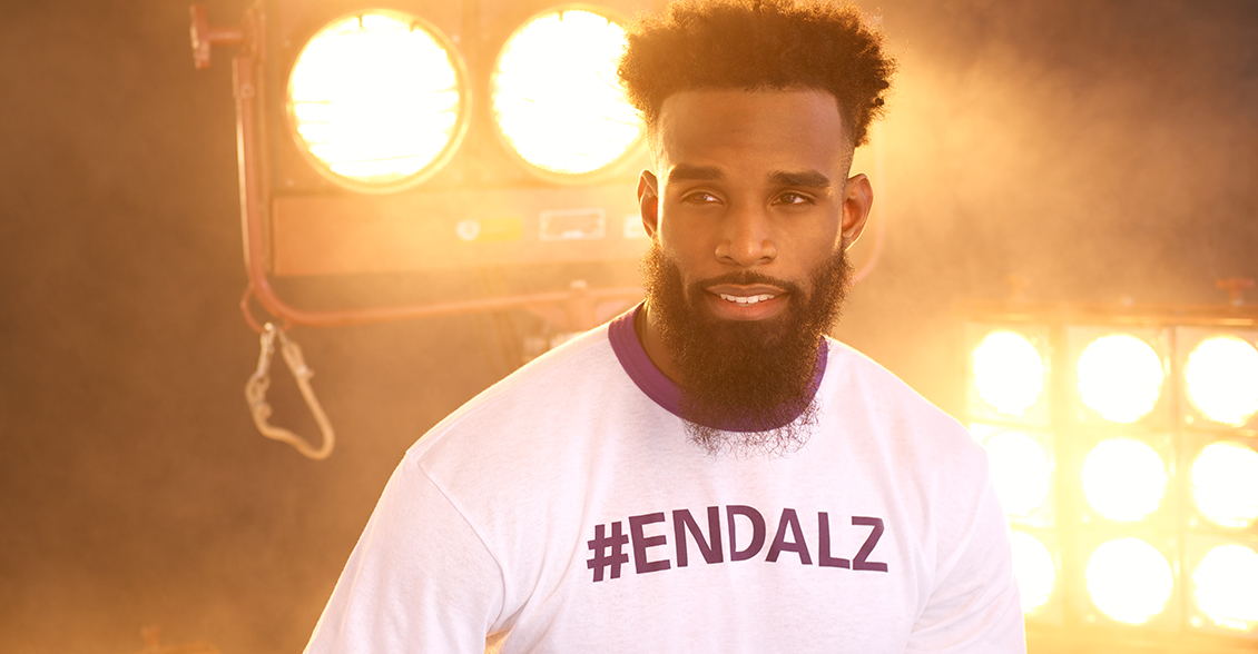 Brandon Coleman fights to #ENDALZ.