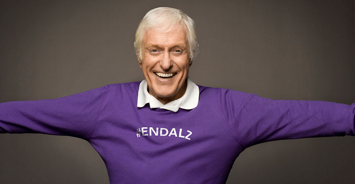 Dick Van Dyke knows that purple will make anyone look like a star!