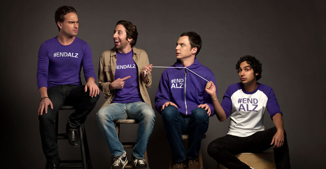 The cast of The Big Bang Theory joins together in the fight to End Alzheimer's!