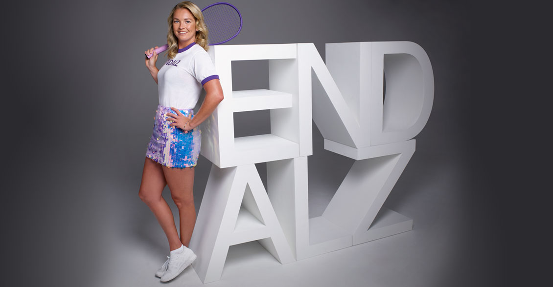 Tennis champ CoCo Vandeweghe serves up awareness during Alzheimer's & Brain Awareness Month.
