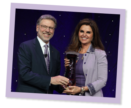 Harry Johns with Maria Shriver