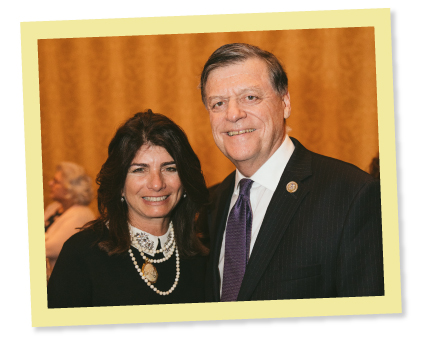 Elizabeth Stearns and Tom Cole