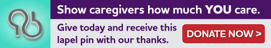 Together, we can end Alzheimer's. Give today, and receive this lapel pin with our thanks. Donate Now.