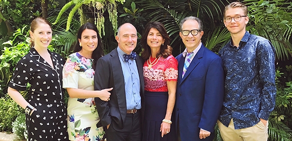 Ilana McBride, Jackie Stearns, Laurence Rosenthal, Elizabeth Gelfand Stearns, Richard Stearns and Elias Sager