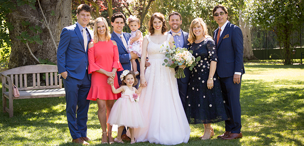 The Gelfand family wedding portrait