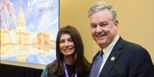 Elizabeth Gelfand Stearns with Representative David Trone