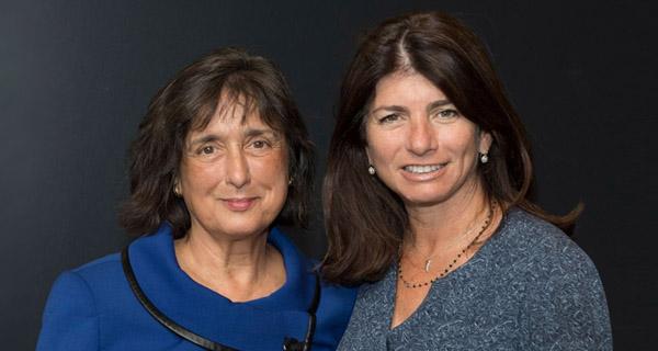Elizabeth Gelfand Stearns poses with Roberta Diaz Brinton, Ph.D., University of Arizona.
