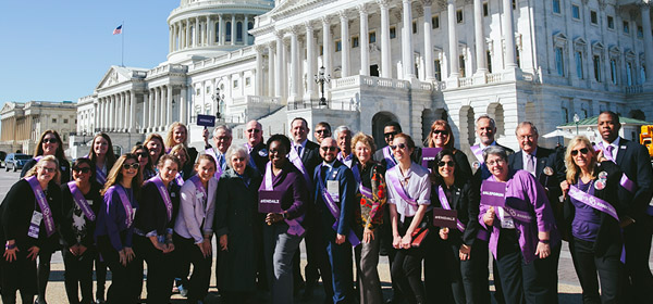 Alzheimer's Ambassadors work with legislators nationwide, year-round to seek increases in research and care and support programs.