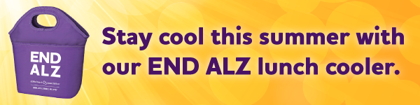 Stay cool this summer with our END ALZ lunch cooler.