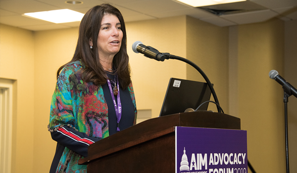 Elizabeth Gelfand Stearns at the 2019 Alzheimer's Impact Movement (AIM) Advocacy Forum in Washington, D.C.