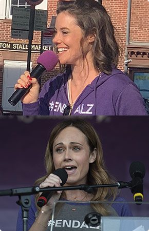Ashley Williams and Nikki DeLoach have attended and spoken at Walk to End Alzheimer's events.