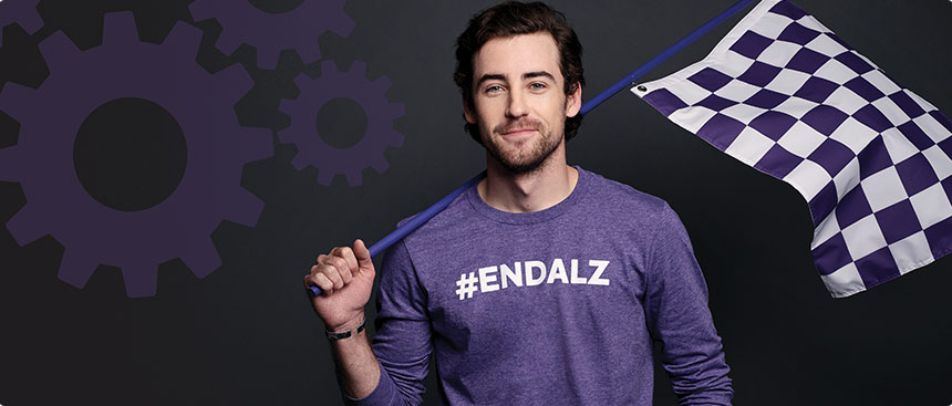 NASCAR driver Ryan Blaney started the Ryan Blaney Family Foundation in 2018, partnering with the Alzheimer's Association to accelerate awareness of the disease in the racing world.